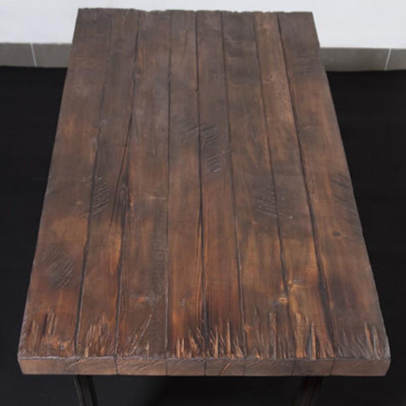 Tavolo Rustico In Legno Massello Invecchiato Byron